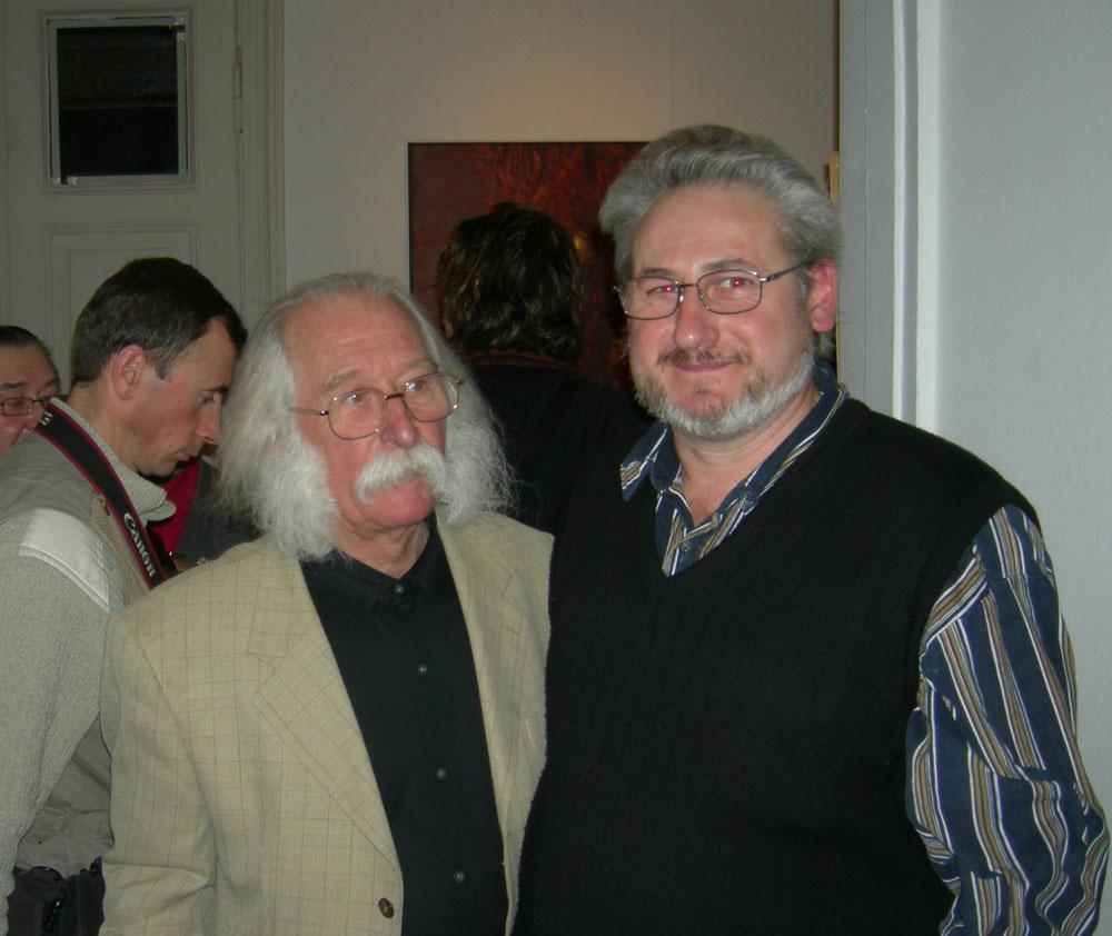 Андрей Кулагин, художник, с Иваном Марчуком