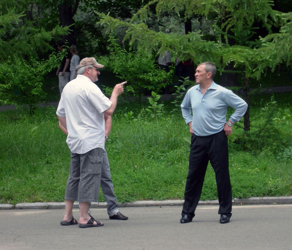 Андрей Кулагин, художник, с мэром Киева Черновецким