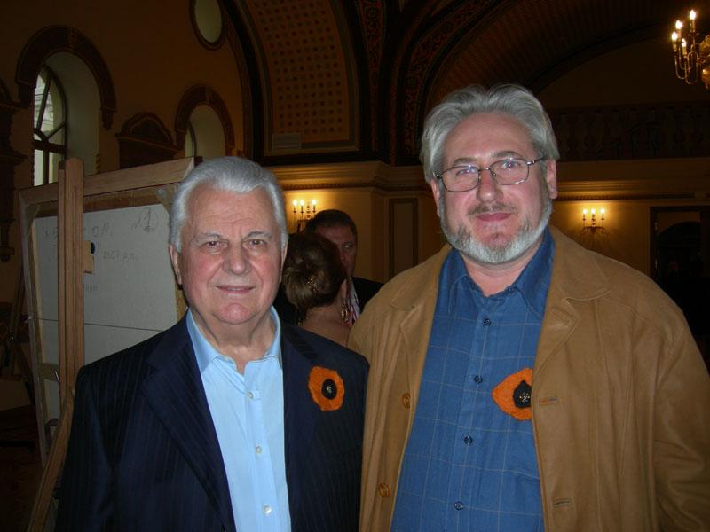 Андрей Кулагин, художник, c первым президентом Украины Леонидом Кравчуком